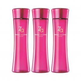 Combo 3 chai nước cân bằng da căng mịn và săn chắc Za Perfect Solution
