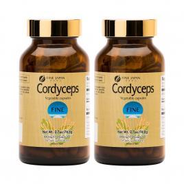 Combo 2 hộp đông trùng hạ thảo Fine Japan Cordyceps 120 viên