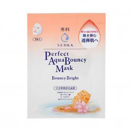 Mặt nạ dưỡng da đàn hồi và sáng mịn Senka Aqua Bouncy Bright Mask (1 miếng x 25ml)