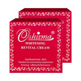 Combo 2 hộp kem sữa linh chi đỏ làm mờ thâm nám và giữ ẩm ban đêm Oshirma 30g