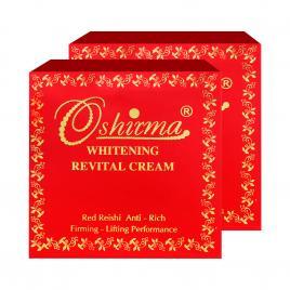 Combo 2 hộp kem nén linh chi đỏ làm mờ thâm nám ban ngày Oshirma 30g