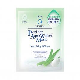 Mặt nạ dưỡng trắng dịu mát Senka Perfect Aqua Soothing White 1 miếng