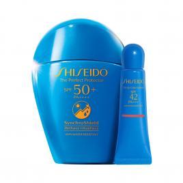 Bộ đôi kem chống nắng và son dưỡng chống nắng Shiseido