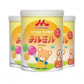 Combo 3 hộp sữa Morinaga Chilmil số 2 Nhật Bản 850g (Cho bé 6-36 tháng)