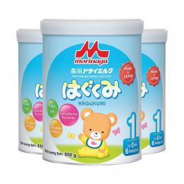 Combo 3 hộp sữa Morinaga Hagukumi số 1 Nhật Bản 850g (Cho bé 0-6 tháng)