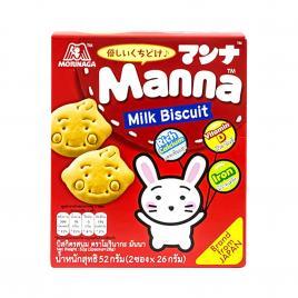Bánh quy sữa Morinaga Manna Milk Biscuit 52g (Dành cho bé từ 6–36 tháng tuổi)