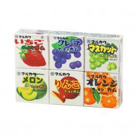 Kẹo cao su trái cây Marukawa Seika 39g (6 hộp x 4 viên)