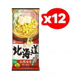 Mì Ramen không chiên vị Miso Hokkaido Marutai 216g (Thùng 12 gói)