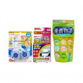 Bộ 3 hóa chất vệ sinh tẩy rửa chuyên dụng Nhật Bản