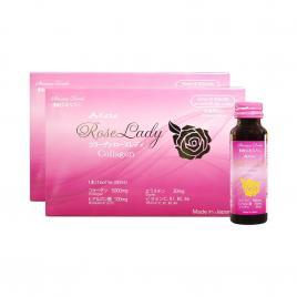 Combo 2 hộp nước uống Collagen Kaza Rose Lady 5000mg (Hộp 10 chai x 50ml)