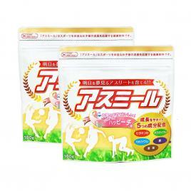 Combo 2 gói sữa tăng chiều cao cho trẻ Asumiru Ichiban Boshi 180g (Vị đào)