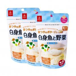 Combo 3 gói cháo ăn dặm Matsuya thịt trắng và rau, vị sò điệp 60g (Cho trẻ từ 6 tháng)