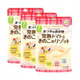 Combo 3 gói cháo ăn dặm cà chua và nấm Matsuya 60g (Cho trẻ từ 7 tháng)