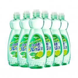 Combo 6 chai nước rửa chén diệt khuẩn tinh chất chanh Mitsuei Nhật Bản 600ml