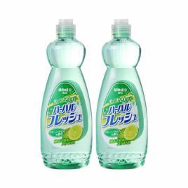 Combo 2 chai nước rửa chén diệt khuẩn tinh chất chanh Mitsuei Nhật Bản 600ml