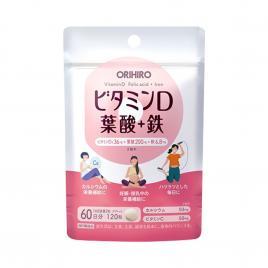 Viên uống bổ sung Sắt, Vitamin D và Axit Folic Orihiro 120 viên