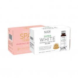 Bộ đôi da sáng hồng, mờ thâm nám Nucos Collagen & Super White