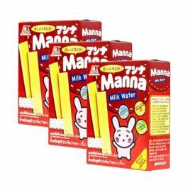 Combo 3 hộp bánh xốp sữa Morinaga Manna Milk Wafer 35g (Dành cho bé từ 6–36 tháng tuổi)