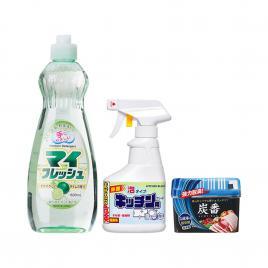 Bộ 3 sản phẩm tẩy rửa và khử mùi nhà bếp hiệu quả
