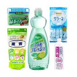 Bộ 5 sản phẩm vệ sinh nhà bếp sạch bóng