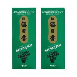 Combo 2 hộp hương Nippon Kodo Morning Star Cedawood 200 que (Hương gỗ tuyết tùng)