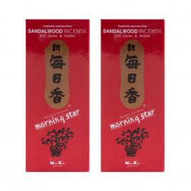 Combo 2 hộp hương Nippon Kodo Morning Star Sandalwood 200 que (Hương gỗ đàn hương)