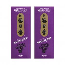 Combo 2 hộp hương Nippon Kodo Morning Star Musk 200 que (Hương xạ hương)