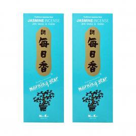 Combo 2 hộp hương Nippon Kodo Morning Star Jasmine 200 que (Hương hoa nhài)