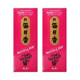 Combo 2 hộp hương Nippon Kodo Morning Star Rose 200 que (Hương hoa hồng)