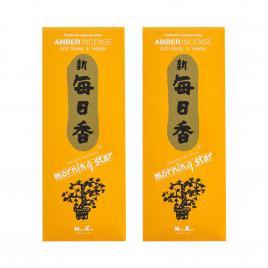 Combo 2 hộp hương Nippon Kodo Morning Star Amber 200 que (Hương hổ phách)