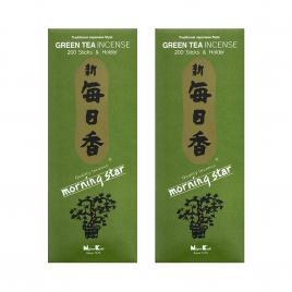 Combo 2 hộp hương Nippon Kodo Morning Star Green Tea 200 que (Hương trà xanh)