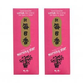 Combo 2 hộp hương Nippon Kodo Morning Star Lotus 200 que (Hương hoa sen)