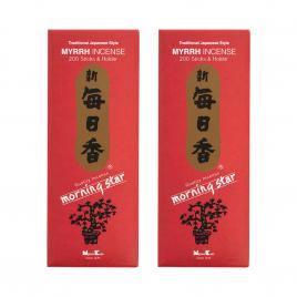 Combo 2 hộp hương Nippon Kodo Morning Star Myrrh 200 que (Hương nhựa thơm thảo mộc)