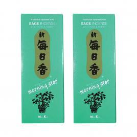 Combo 2 hộp hương Nippon Kodo Morning Star Sage 200 que (Hương lá xô thơm)