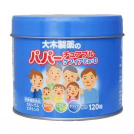 Viên nhai sữa chua hỗ trợ tiêu hóa Ohki Papa Kefir 120 viên