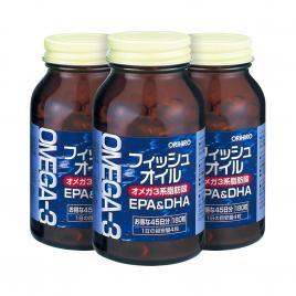 Combo 3 hộp viên uống bổ mắt Omega-3 Orihiro 180 viên