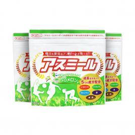 Combo 3 gói sữa tăng chiều cao cho trẻ Asumiru Ichiban Boshi 180g (Vị dưa vàng)