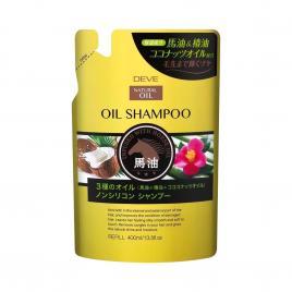 Dầu gội đầu chiết xuất từ dầu ngựa, dầu dừa và dầu hoa trà Kumano Oil Shampoo 400ml (Refill)