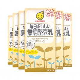 Combo 6 hộp sữa đậu nành không đường Marusan 1000ml