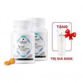 Combo 2 hộp viên uống trị mụn Sakura Acne Pill 60 viên