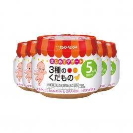 Combo 5 hộp trái cây nghiền ăn dặm táo, chuối, cam Kewpie 70g (Cho trẻ từ 5 tháng)