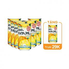Combo 6 lon nước ép trái cây cô đặc 100% Sangaria 190g
