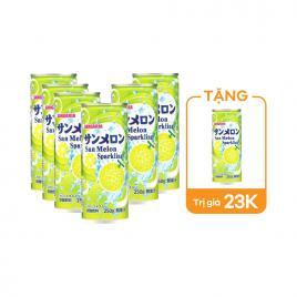 Combo 6 lon nước soda Sangaria Sparkling 250g