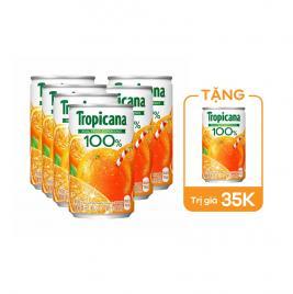 Combo 6 lon nước ép trái cây Kirin Tropicana 160g