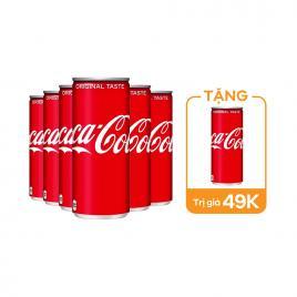 Combo 6 lon nước ngọt Coca-Cola Nhật 500ml