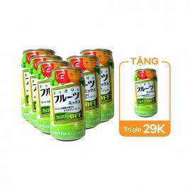 Combo 6 lon nước giải khát trái cây Sangaria Calorie Off 340g