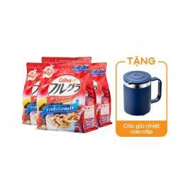 Combo 3 gói ngũ cốc trái cây Calbee Nhật Bản 482g