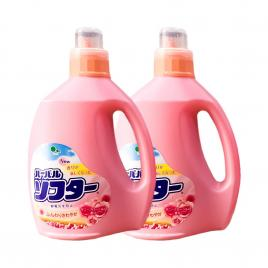 Combo 2 chai nước xả vải hương hoa hồng Mitsuei 2L