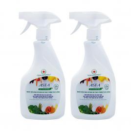 Combo 2 chai xịt rửa rau củ ASFA Fruit & Vegetable Wash 500ml