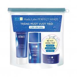 Bộ sản phẩm dưỡng trắng Hada Labo Perfect White Travel Kit